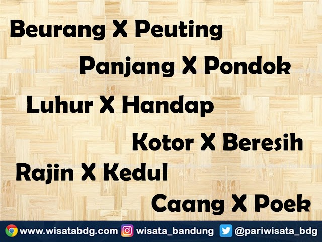 Contoh Kata-Kata Antonim dalam Bahasa Sunda dan Penerapan dalam Kalimat