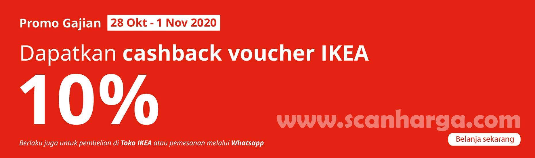 IKEA Payday Promo Gajian - Dapatkan Voucher Cashback 10%*