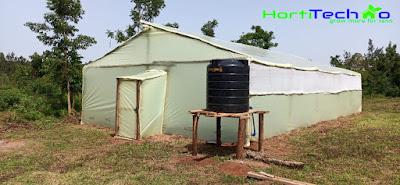 Wooden greenhouse in Kiambu, Kenya