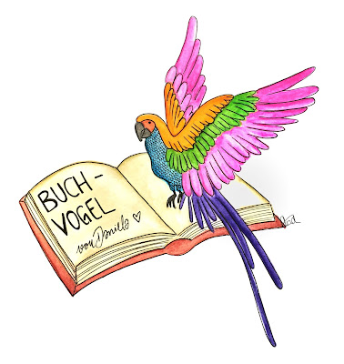 Papagei auf Buch