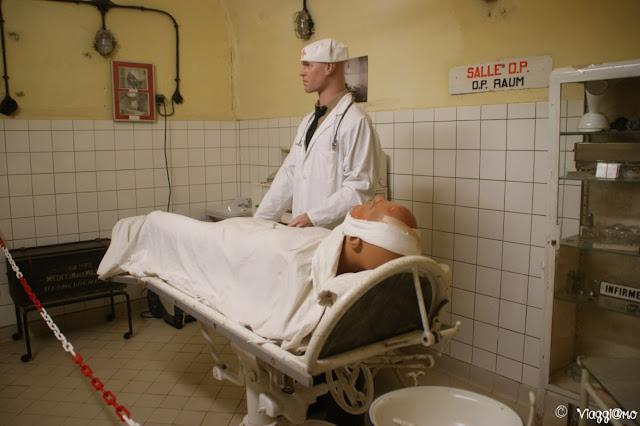 L'infermeria all'interno dell'ouvrage del Four a Chaux di Lembach