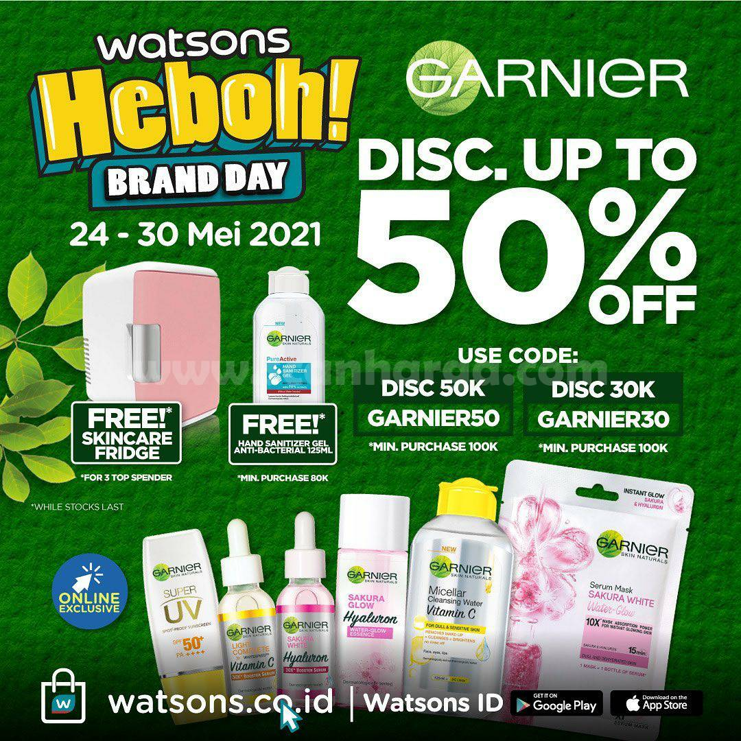 WATSONS Promo HEBOH BRAND DAY Disc. up to 50% Off