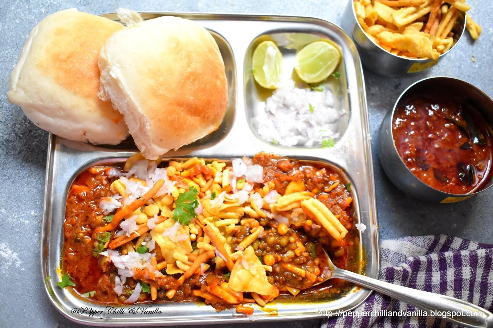 how to make misal pav using goda masala