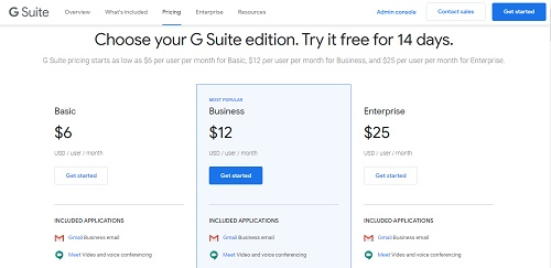 Gmail Business email (G Suite) Pricing-gmail business account-gmail enterprise account-manage gmail business account