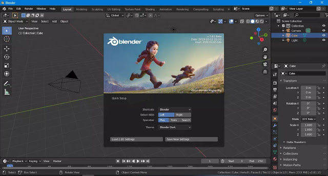 Blender 2.81 Akan Rilis di Bulan November 2019, Apa yang baru ?