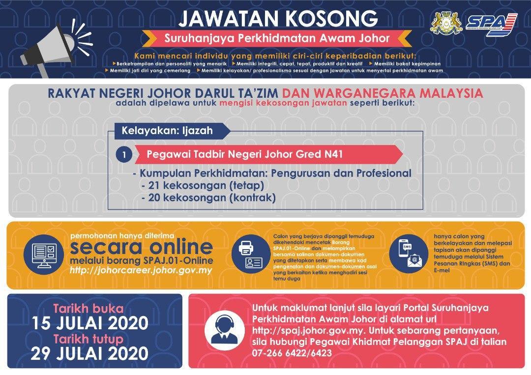 Jawatan Kosong Di Suruhanjaya Perkhidmatan Awam Johor Spaj Appjawatan Malaysia