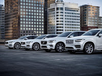 Volvo's plug-in hybrid model cars. (Credit: Volvo) Click to Enlarge.