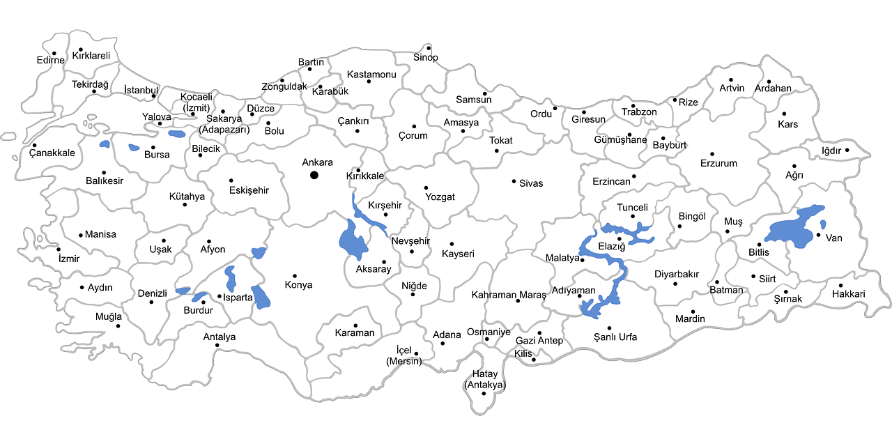 Ankara Turkey map