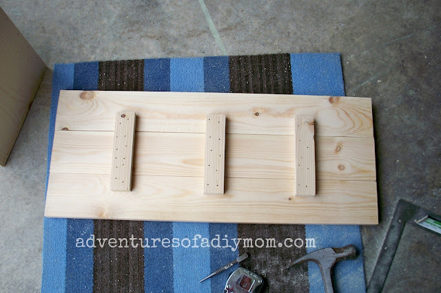 building the lid to the toy box