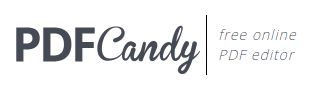 PDF Candy - free online PDF editor and converter - lots of great features