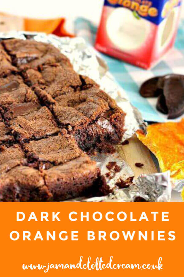 Dense and fudgy Dark Chocolate Orange Brownies #chocolateorange #brownies #baking #christmas