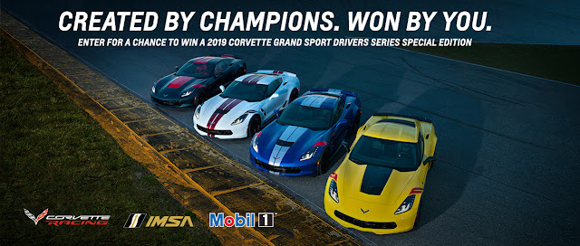 Chevy is giving away a brand new 2019 Chevrolet Corvette Grand Sport Coupe worth over $75,000 plus a free vacation to Daytona for the 2020 Rolex 24 race!