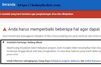Cara mendaftarkan ulang email yang pernah ditolak adsense