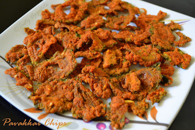 Most of us avoid this salubrious vegetable coz of its bitterness Homemade crispy Bitter Gourd Chips  ( Pavakkai / Karela  Chips )  &  AWARDS