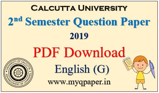 Calcutta University English General Question Paper Download PDF