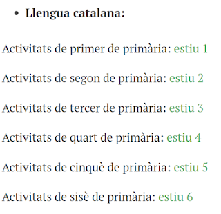 MATERIALES EN CATALÁN