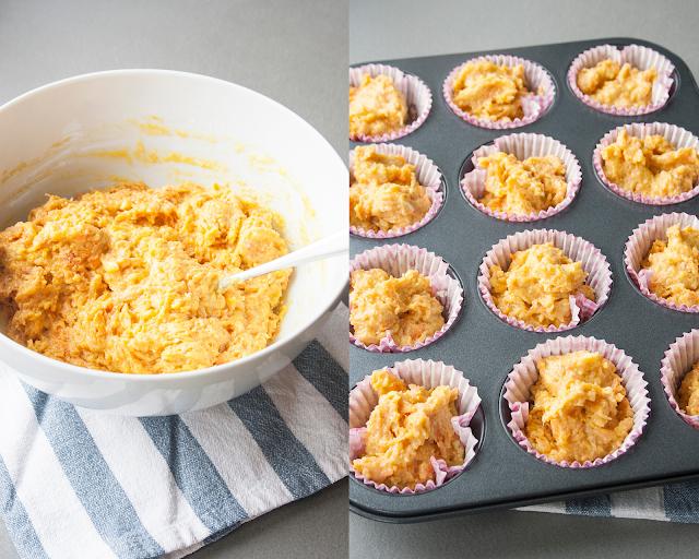 Muffin alle carote, le tortine monoporzioni facili da fare step 5 e 6