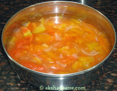 chopped tomatoes for tomato soup recipe
