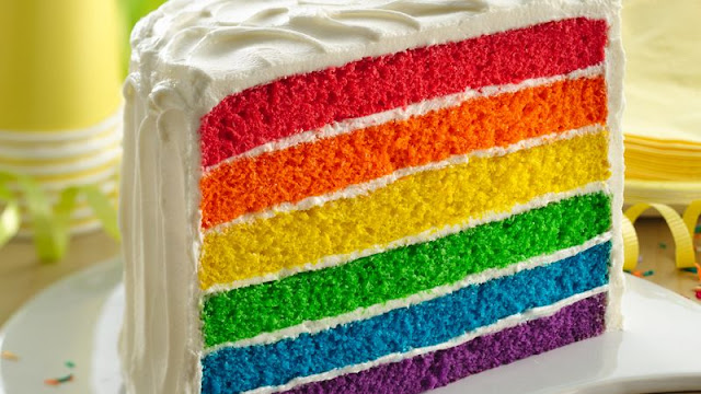 Make a Rainbow Cake Recipe from Betty Crocker.