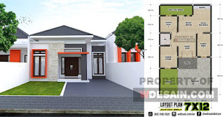 Model Rumah Minimalis Ukuran 7x10 3