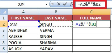 Combine Text from two or more cells into one cell (Concatenate)