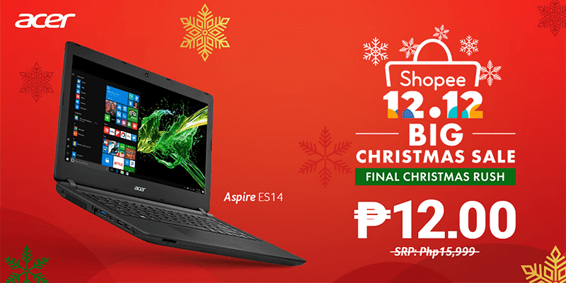 Sale Alert: Acer will offer a laptop for PHP 12 at Shopee on 12.12!