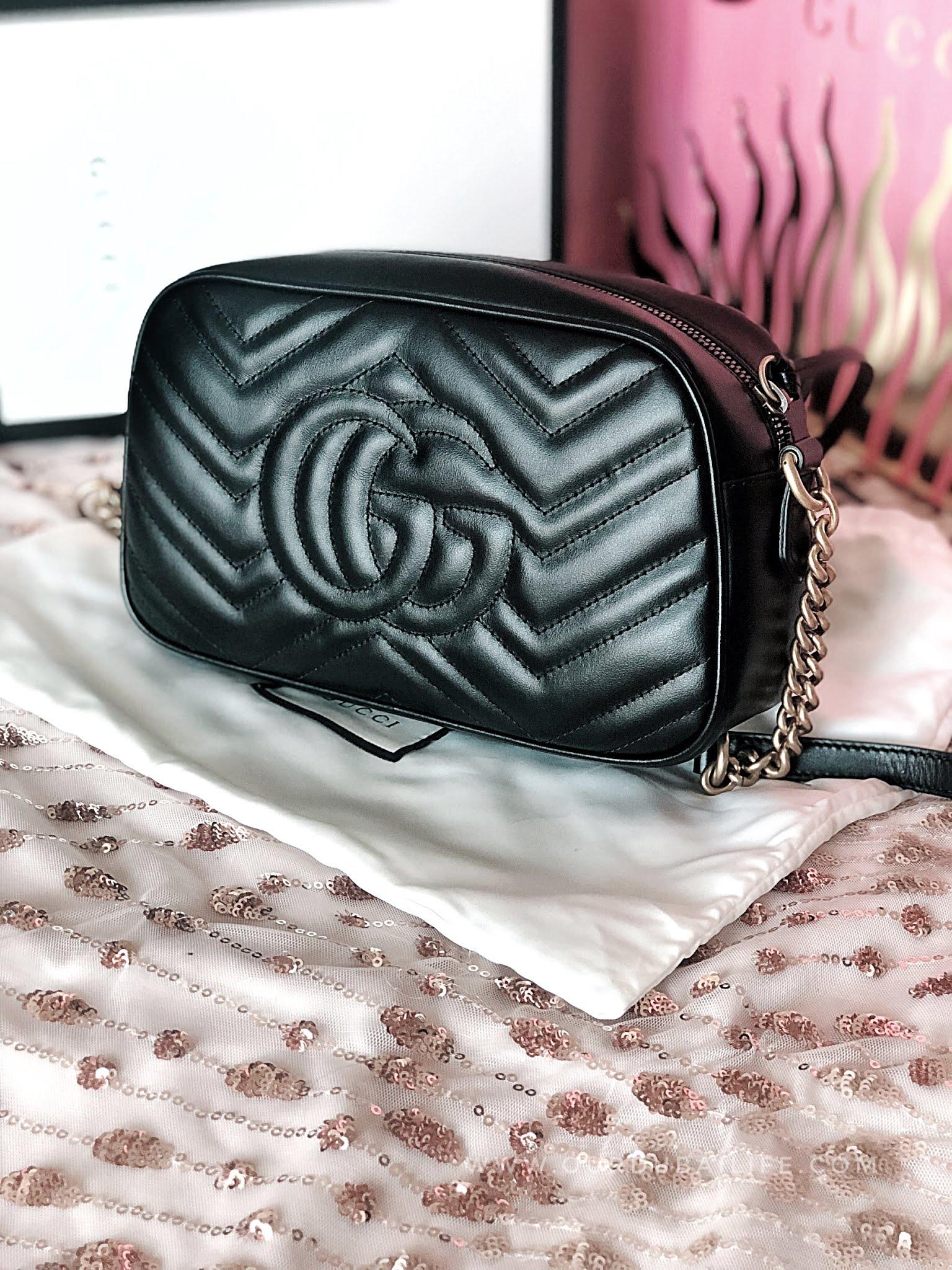 GUCCI MARMONT black camera bag back