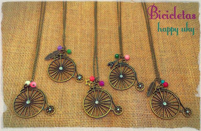 happy uky complementos collares  bicicletas vintage handmade barcelona