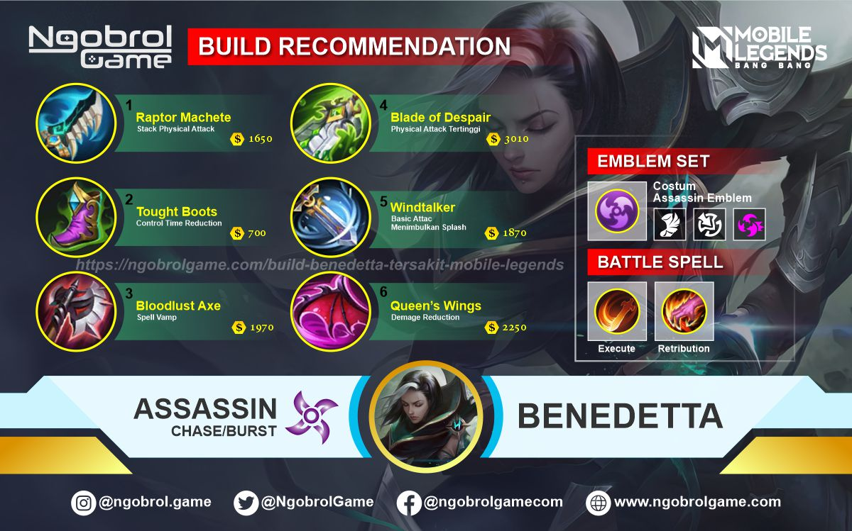 Build Benedetta Savage Mobile Legends