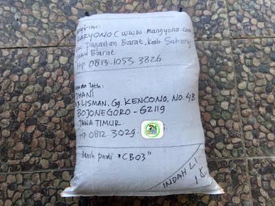 Benih Padi Pesanan  DHANI Bojonegoro, Jatim.  (Sesudah di Packing)