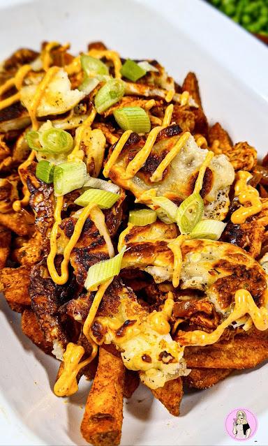 nandos loaded fried fakeaway recipe, low calorie recipe, low calorie meals, low calorie dinner, slimming food