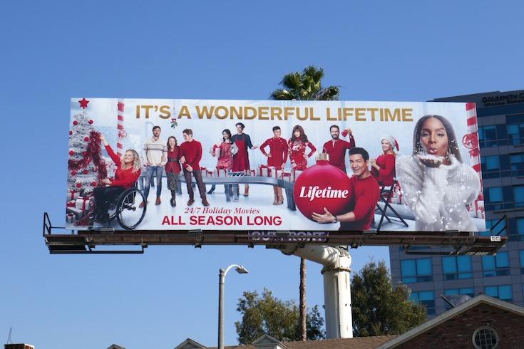 Its a Wonderful Lifetime Holidays billboard