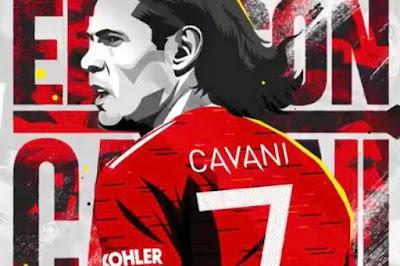 رسميا..كافاني يرتدي الرقم 7 في مانشستر يونايتد رقم الأساطير