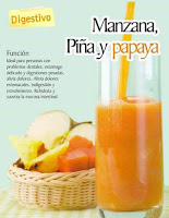 Jugos saludables manzana piña y papaya