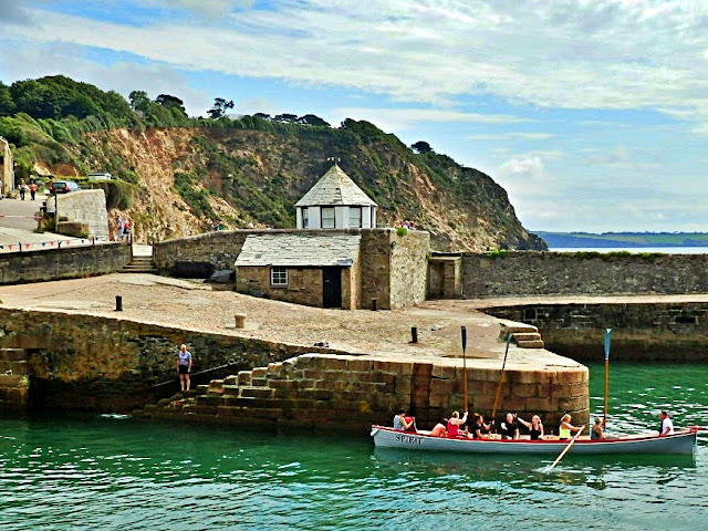 Rowing boat at Charlestown Harbour, Cornwall