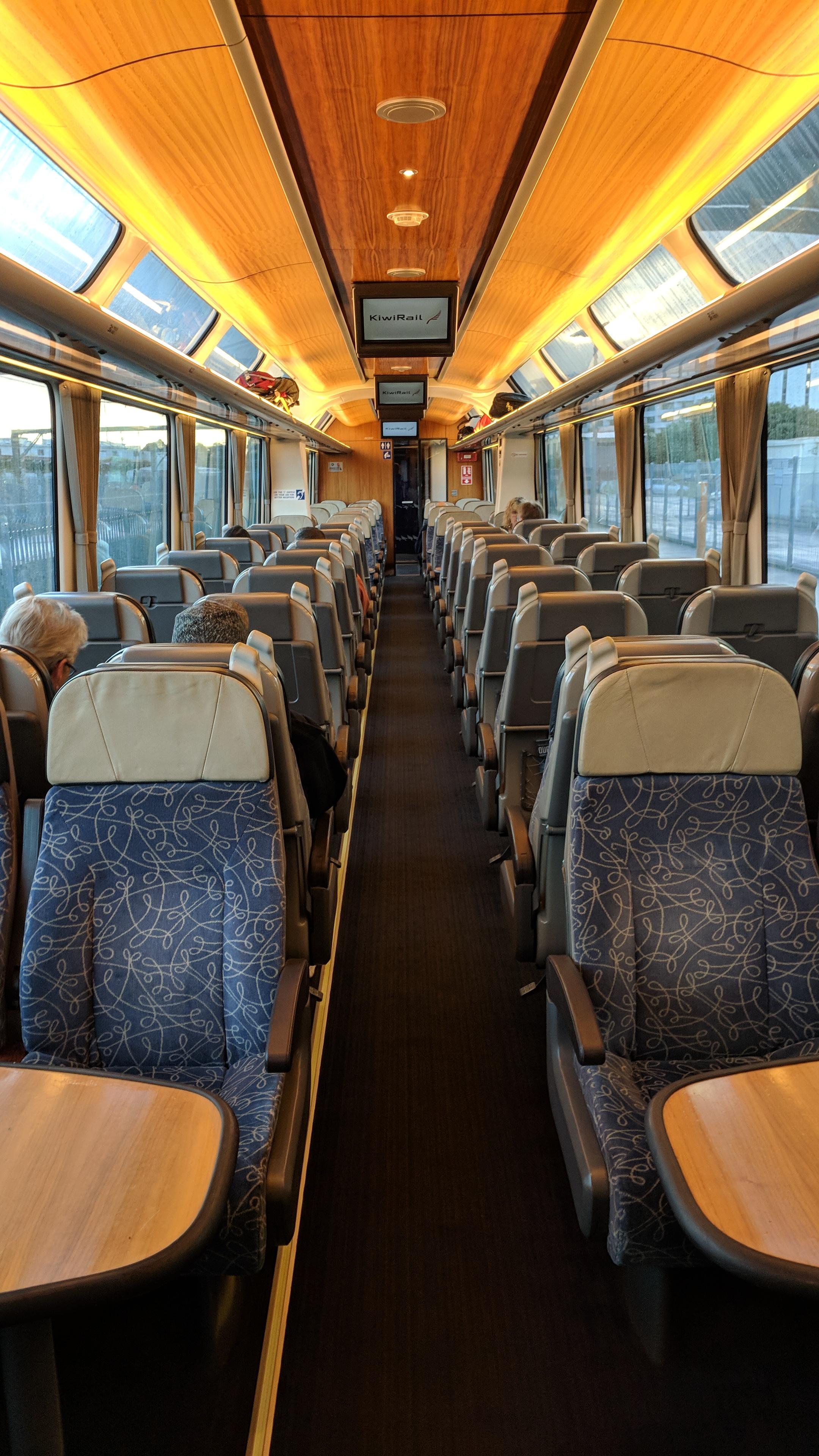 AoNZ Northern Explorer scenic train, passenger carriage