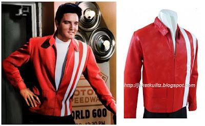 Gambar Jaket Kulit Elvis Presley Merah Vintage