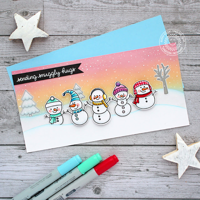 Sunny Studio Stamps: Feeling Frosty Christmas Home Winter Themed Card by Vanessa Menhorn