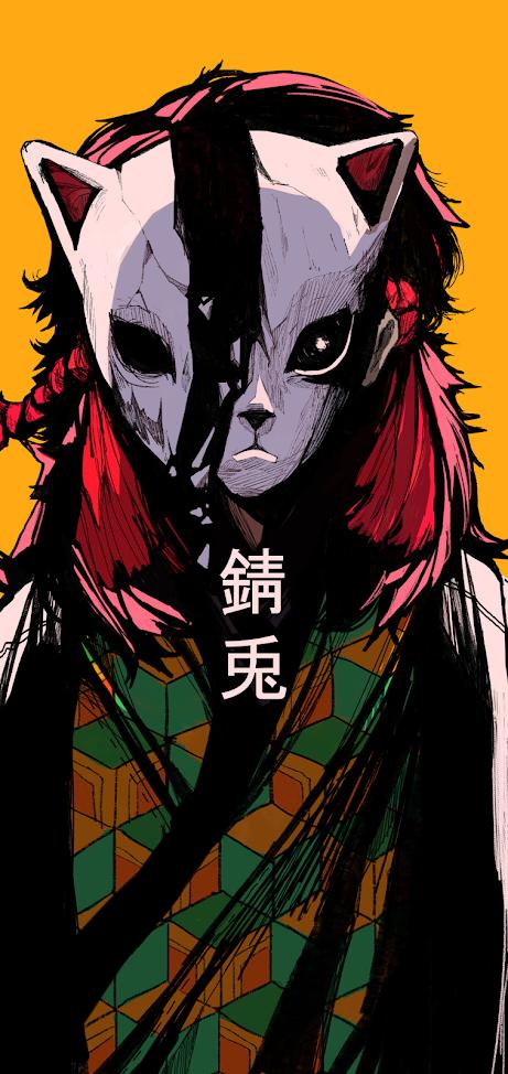 Wallpaper of Demon Slayer Kimetsu no Yaiba anime character sabito