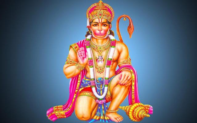 Lord Hanuman  Wallpaper In Blue Background