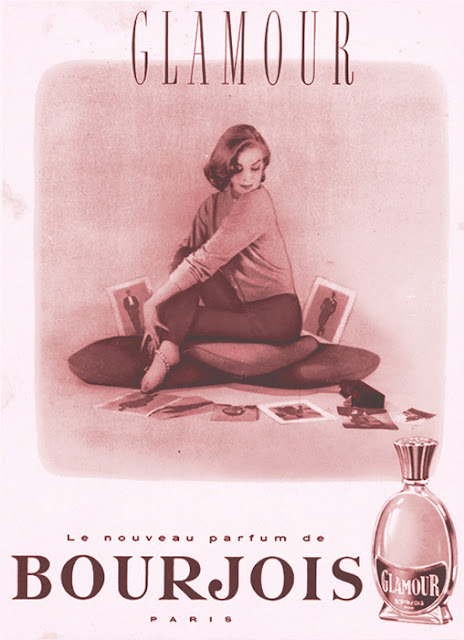 Bourjois cartel antiguo Glamour