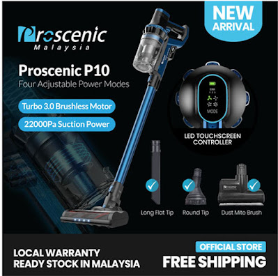 Proscenic P10 vacuum review malaysia
