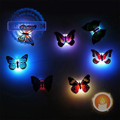 Đèn bươm bướm phát sáng dán tường