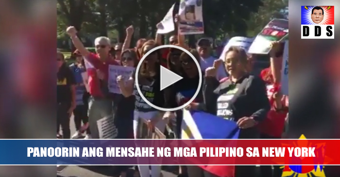 WATCH: Filipino Community In New York Sends Powerfull Message To The World