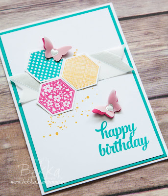 Birthday Butterflies Card with Six Sided Sampler Stamp Set from Stampin' Up! UK