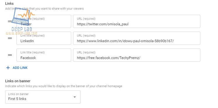 كيفية إضافة روابط وسائل التواصل الاجتماعي إلى قناتك على YouTube