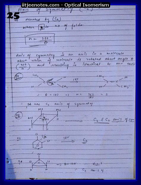 Optical Isomerism Notes 8