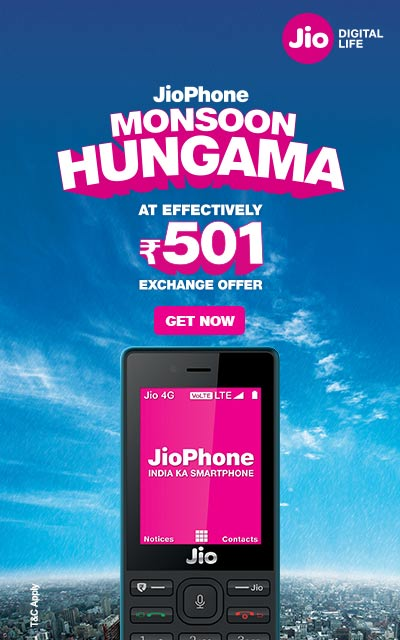 f0884a32e Jio phone monsoon hungama exchange offer only at Rs.501