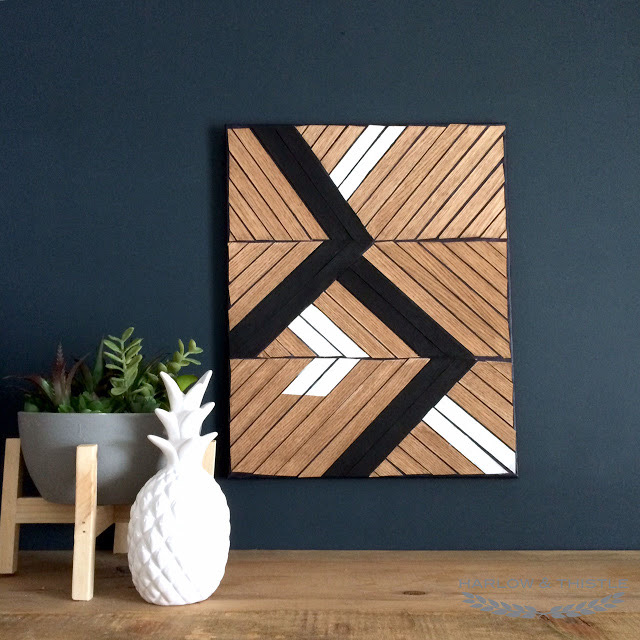 20 Stay Home DIY Home Decor Projects - DIY Wood Veneer Art Project