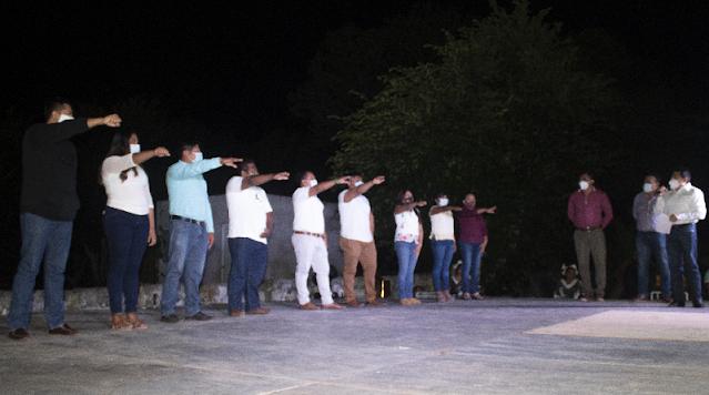 Instala Nueva Alianza Yucatán, comité directivo en Yaxkukul